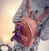 Рюкзак женский кожзам Стеганый Коричневый, фото 8