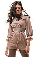 Блуза и брюки костюм женский цвет капуччино размер S M L