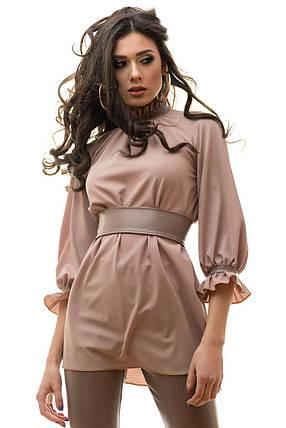 Блуза и брюки костюм женский цвет капуччино размер S M L, фото 2