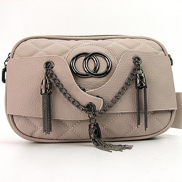 76684318c8d0 Бежевая овальная стеганая сумка молодежного типа  продажа, цена в ...