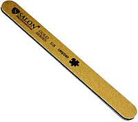 Пилка для ногтей Salon Professional 180/240, прямая, узкая, золото