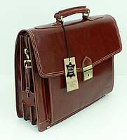 Мужской кожаный портфель VERA PELLE(Италия)