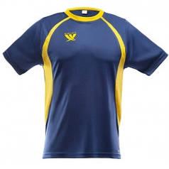 Футболка футбольная SWIFT 9 Arena Tactel (т/сине-желтая)