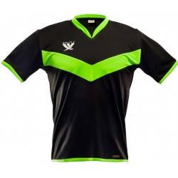 Футболка футбольная SWIFT 26 Idea Tactel (черно/зеленая), фото 2