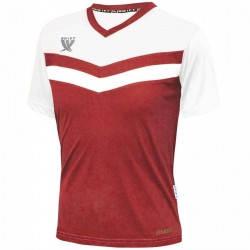 Футболка футбольная Swift Romb CoolTech (красно/белая), фото 2
