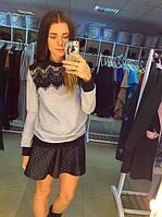 Женская кофта с гипюром Zara
