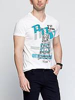 Мужская футболка LC Waikiki белого цвета с картинкой на груди, фото 1