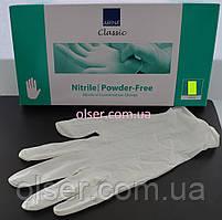 Перчатки нитрилове неопудренные белые Abena 150 шт.