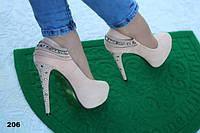 Туфли женские нежно-розовый 206