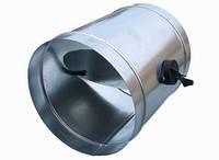 Дроссель-клапан с пластиковой ручкой для круглых воздуховодов
