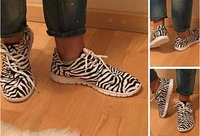 Легкие женские кроссовки зебра Plato