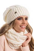 Двойная красиво связанная женская шапка Ella, Польша.