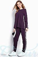 Брючный спортивный костюм. Все размеры. Цвет фиолетовый.