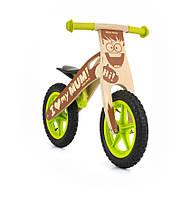 Велосипед беговой велокат Milly Mally беговел KING 2015 BOY надувные колеса сумка с молотком дерево Польша
