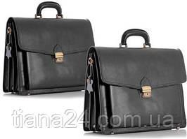 Классический кожаный портфель VERA PELLE (Италия)