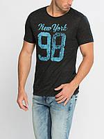 Мужская футболка LC Waikiki черного цвета с надписью New York 98, фото 1
