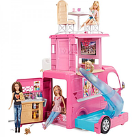 Трейлер для подорожей кемпер Барби Barbie Pop-Up Camper Vehicle