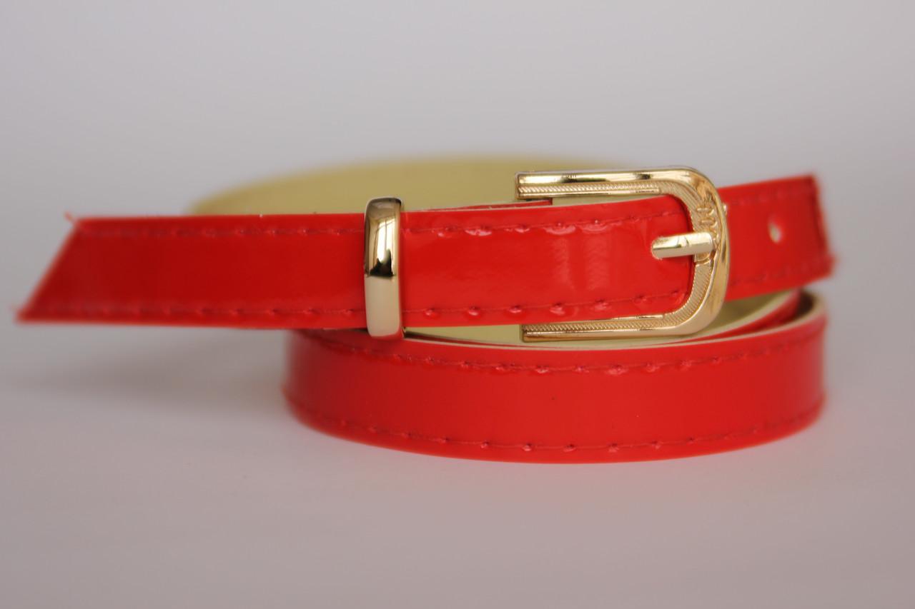 Женский ремень тонкий F210 (красный)