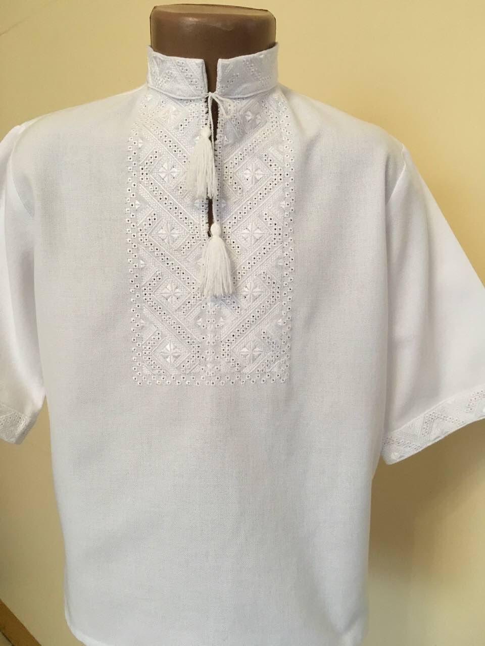 Біла вишита сорочка для хлопчика домоткане полотно на 3-4 роки ... c16dc76946f35