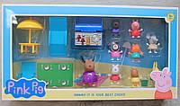 Игровой набор Свинка Пеппа с друзьями на пляже коробка 50*27*8 см