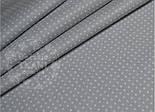 Лоскут ткани №580  с мини-горошком 2 мм на сером фоне, фото 2