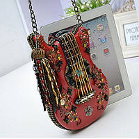 Сумка «Гитара» с бисером ручная работа, оригинальная сумочка в виде гитары