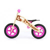 Велосипед беговой велокат Milly Mally беговел KING 2015 GIRLS надувные колеса сумка с молотком дерево Польша