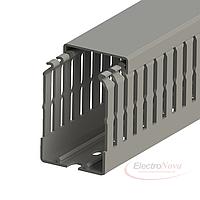 Перфорированный кабельный канал ОНКА, шаг перфорации 4/6 мм, длина 2м, размер 25х60, упаковка 48 м.