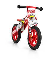 Велосипед беговой велокат Milly Mally беговел KING 2015 POLAND надувные колеса сумка с молотком дерево Польша
