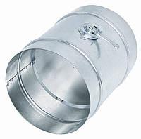 Дроссель-клапан с металлической ручкой для круглых воздуховодов