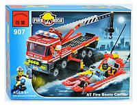"""Конструктор типа лего """"Пожарная охрана"""" (420 деталей), ТМ BRICK, 907"""