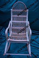 Мягкое кресло-качалка из лозы разборная