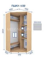 Шкаф купе угловой высота 2224, глубина 450, длина на выбор