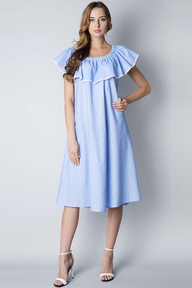 Платье свободного кроя летнее П202