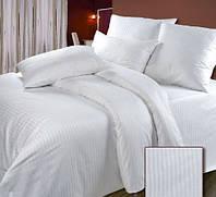 Комплект постельного белья полуторный белая полоса