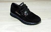 Кроссовки женские кожаные на шнурке