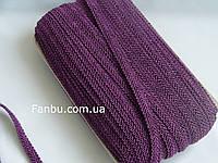 """Цветная тесьма """"шанель шубная"""" фиолетовая,ширина 1.2см(1упаковка-50метров)"""