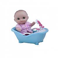 Пупс-малыш с ванночкой, 13 см