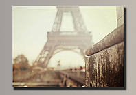 Фото картина на холсте Эйфелева Башня 54*39,5 см.