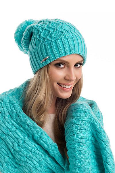 Модная красивая вязаная женская шапка Esther Pawonex Польша.