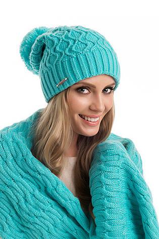 Модная красивая вязаная женская шапка Esther Pawonex Польша., фото 2