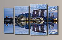 """Картина модульная на холсте """"Сингапур"""" HAF-025"""