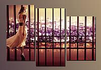 """Картина модульная на холсте """"Девушка в длинном платье"""" HAT-010"""