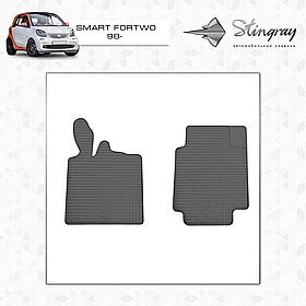 Коврики резиновые в салон Smart Fortwo 1998- передние (2шт) Stingray