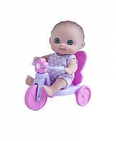 Пупс-малыш с велосипедом, 13 см