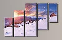Картины модульная на холсте НАВ-011 Зимний пейзаж