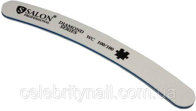 Пилка для ногтей Salon Professional 100/100, бумеранг, белая