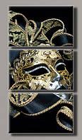 Картина модульная на холсте Карнавальная маска HAT-113 55*108(3) см.
