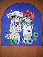 Детская шапка из трикотажа для девочки