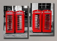 Картина модульная на холсте Лондонский шарм